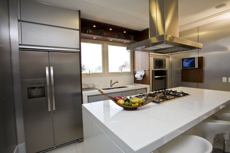 cozinha  Guirlanda Decoração  Cama Mesa e Banho # Cozinha Com Ilha E Mesa