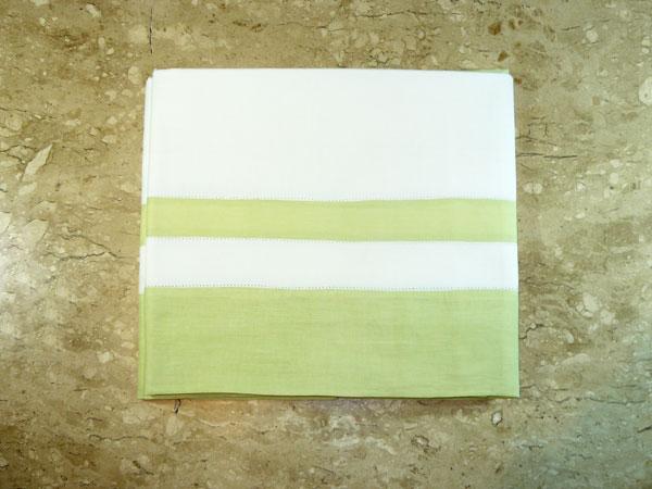 Toalha de Mesa de Jantar Branca e Verde